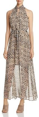 Calvin Klein Leopard Print Maxi Dress $129.50 thestylecure.com