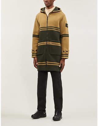 Stone Island Jacquard striped wool-blend coat