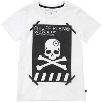 Skull Printed Cotton Jersey T-Shirt
