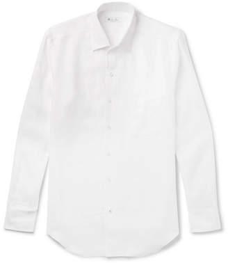 Loro Piana Slub Linen Shirt - White
