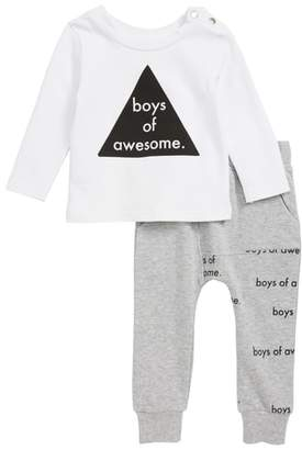 TINY TRIBE Boys of Awesome T-Shirt & Sweatpants Set