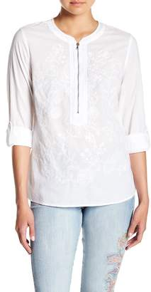 Nine West Fernanda Embroidered Blouse