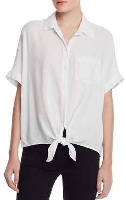 BeachLunchLounge Short-Sleeve Tie-Front Shirt