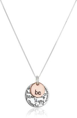 """DAY Birger et Mikkelsen Amazon Collection Two-Tone Sterling Silver """"Be"""" Graffiti Charm Necklace, 18"""""""