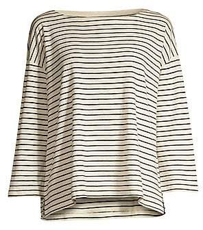 Eileen Fisher Women's Stripe Hemp& Organic Cotton-Blend Tee