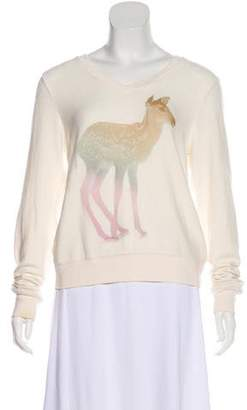 Wildfox Couture Graphic Print Long Sleeve Top