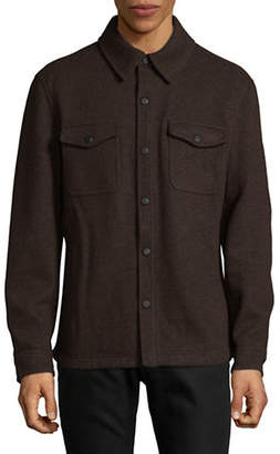 London Fog Double-Face Wool-Blend Snap Jacket
