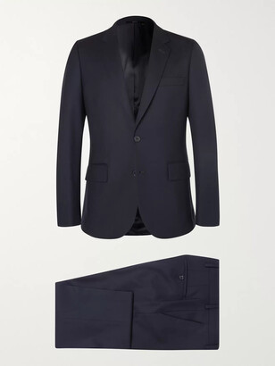Paul Smith Navy A Suit To Travel In Soho Slim-Fit Wool Suit - Men - Blue
