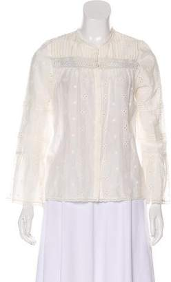 96456f1e61f433 Ulla Johnson Eyelet Accented Top