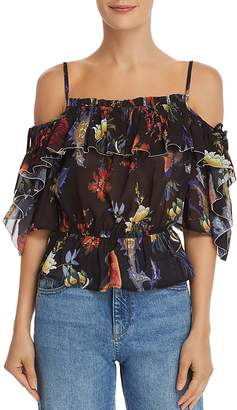 GUESS Bird Of Paradise Cold-Shoulder Top