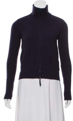 Akris Punto Wool & Cashmere Blend Mock Neck Zipped Sweater