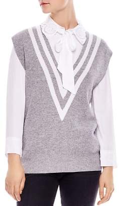 Sandro Tabby Striped Sweater Vest