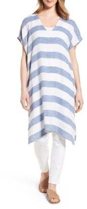 Women's Eileen Fisher Stripe Organic Linen Tunic $248 thestylecure.com