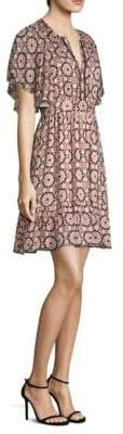 Kate Spade Floral Mosaic Flutte Sheath Dress