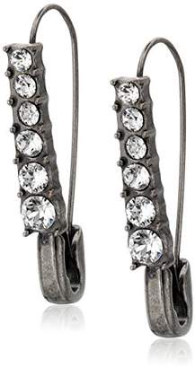 Marc Jacobs Charms Safety Pin Crystal Earrings