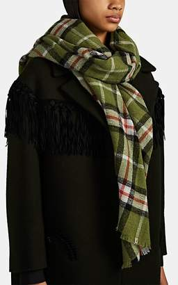 Isabel Marant Women's Suzanne Plaid Wool-Cashmere Scarf - Green