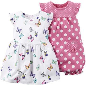 Carter's 2-pc. Sleeveless Dress & Romper Set - Baby Girls newborn-24m