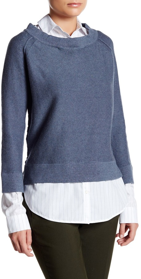 Brochu Walker Evie Layered Crew Neck Sweatshirt 2