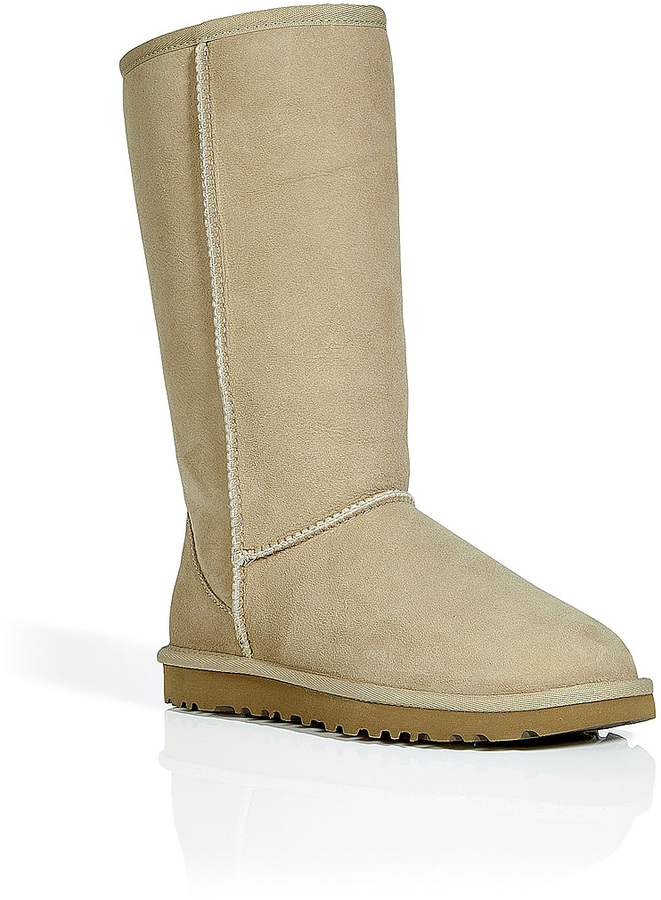 UGG Leather Classic Tall Boots in Sand