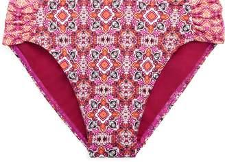 Ralph Lauren Print Shirred Bikini Bottom