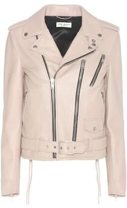 Saint Laurent Signature L17 leather motorcycle jacket