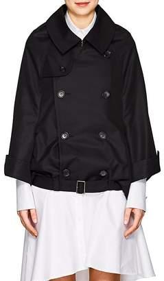Junya Watanabe Comme des Garçons Women's Cotton-Blend Belted Double-Breasted Jacket