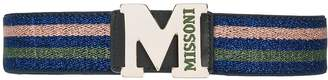M Missoni logo buckle waist belt