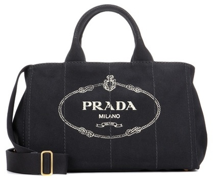 pradaPrada Jardinera Large Canvas Shopper Bag
