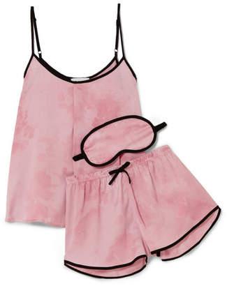 New View Printed Satin Pajama Set - Baby pink