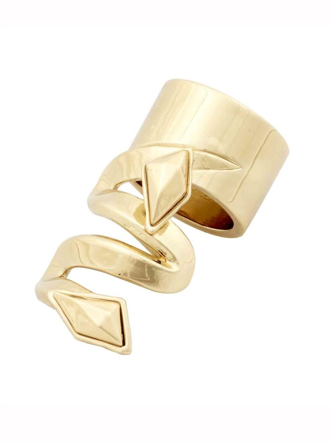 Belle Noel by Kim Kardashian Metal Stone Finger Ring