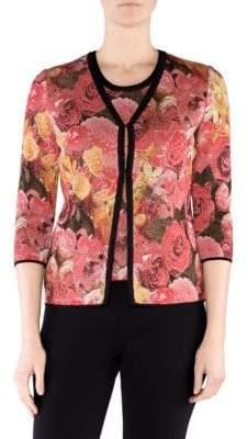 Stizzoli, Plus Size Floral-Print Cardigan