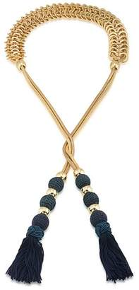 Trina Turk Tassel Lariat Necklace, 44""