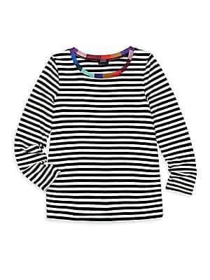 Splendid Girl's x Margherita Missoni Contrast-Neckband Striped Top