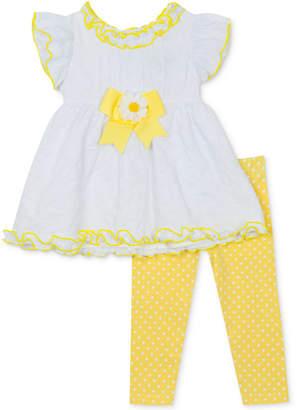 50f1c883ce9d9 Rare Editions Baby Girls 2-Pc. Bow-Trim Tunic & Leggings Set