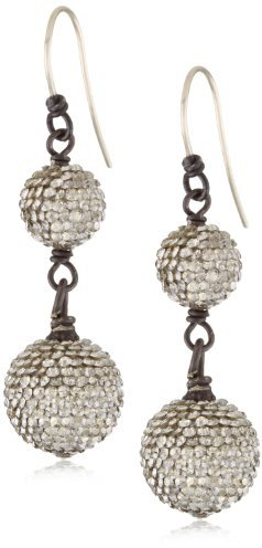 Deanna Hamro Atelier Crystal Silver Shade Double Pave Drop Earrings