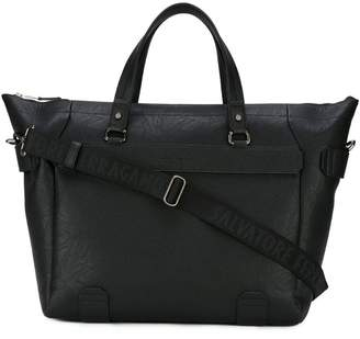 Salvatore Ferragamo textured weekender bag