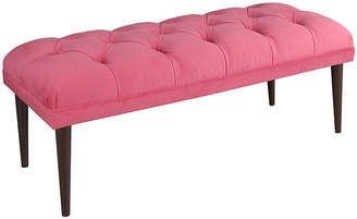 "One Kings Lane Carrie 49"" Tufted Bench - Pink Velvet"