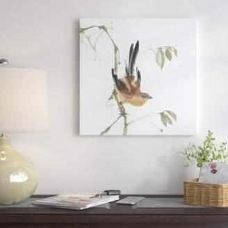 East Urban Home 'Mountain Bush Warbler' Print on Canvas