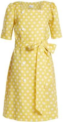 Lisa Marie Fernandez Diana polka dot-print linen dress