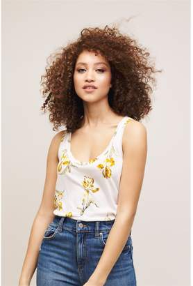 Dynamite Scoop Neck Tee - FINAL SALE Yellow Floral