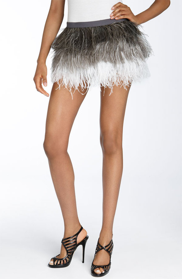 Haute Hippie Ombré Feather Skirt