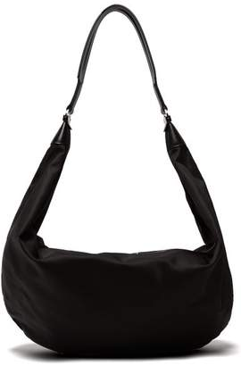 The Row Sling Leather Trimmed Nylon Cross Body Bag - Womens - Black
