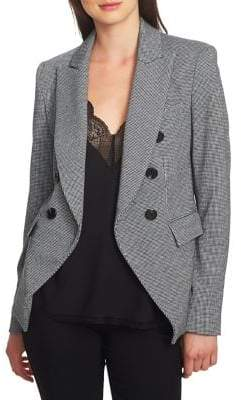 1 STATE 1.STATE Puppytooth Double Breasted Blazer