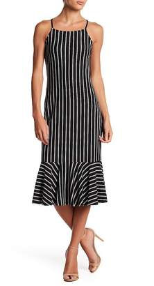 Free Press Stripe Flounce Hem Dress