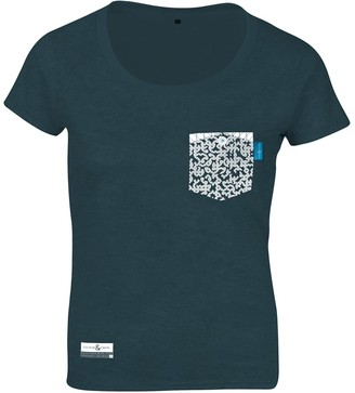 Anchor & Crew Steel Blue Organic Cotton Digit Print T-Shirt (Womens)