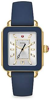 Michele Women's Deco Sport Stainless Steel & Silicone Strap Watch