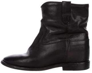 Isabel Marant Leather Jenny Ankle Boots
