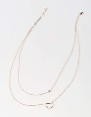 Full Tilt Open Heart Layered Necklace