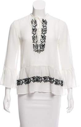 Walter Baker Embroidered Long Sleeve Top w/ Tags