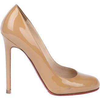 Christian Louboutin Fifi Camel Patent leather Heels
